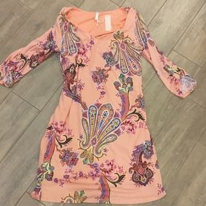 Maternity dress Peach Paisley Size M